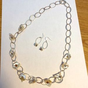 Sterling Silver Fresh Water Pearl Necklace Set